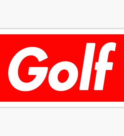 Golf Box Logo Sticker