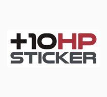 +10 HP Sticker  Kids Tee
