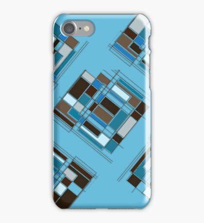 Retro Turquoise & Brown Abstract DPA150523-14 iPhone Case/Skin