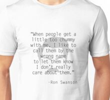 Ron Swanson: Friendship Unisex T-Shirt