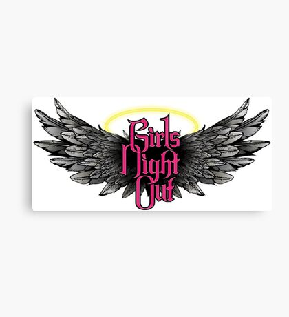 Girls Night Out - Pink Canvas Print