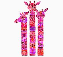Giraffes – Magenta Ombré Unisex T-Shirt