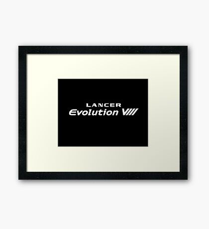 EVO VII LOGO Framed Print