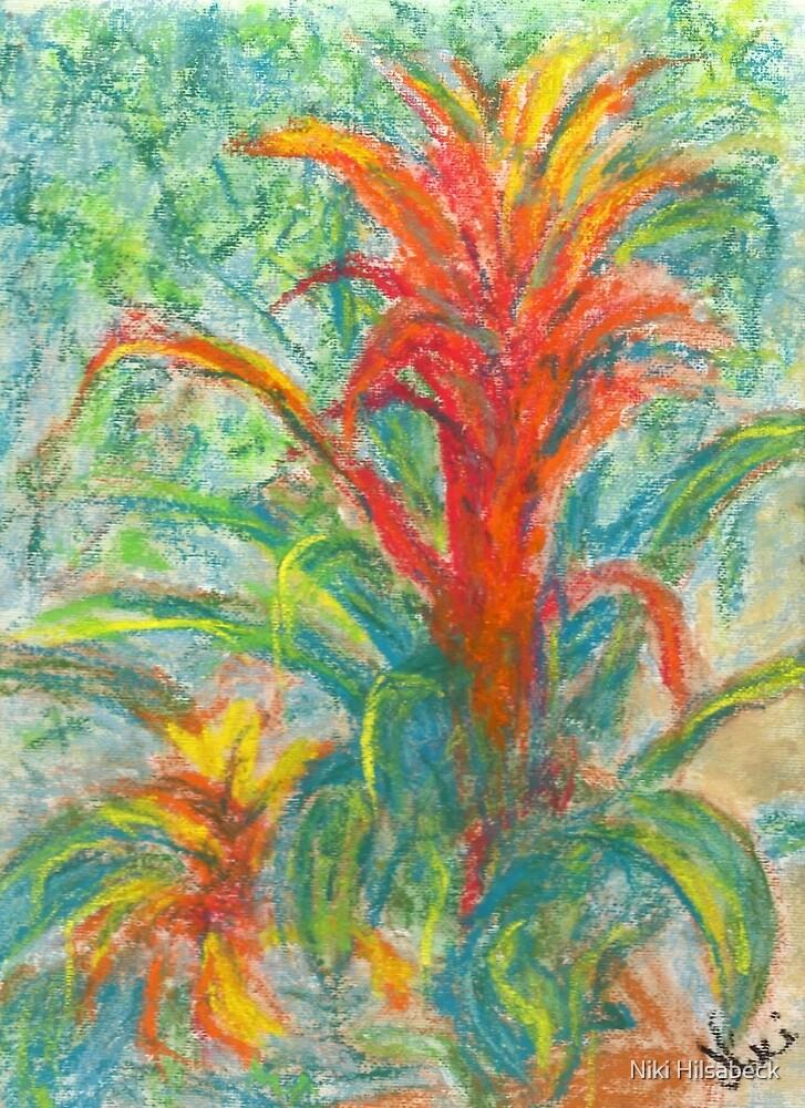 Bromeliad Pair (pastel) by Niki Hilsabeck