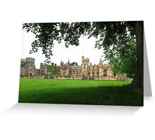 The gothic style of Knebworth house, Hertfordshire Greeting Card