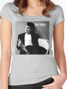 Chet Baker  Women's Fitted Scoop T-Shirt