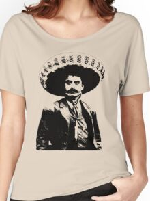 Emiliano Zapata - unichrome black Women's Relaxed Fit T-Shirt