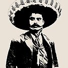 Emiliano Zapata - unichrome black by Bela-Manson