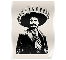 Emiliano Zapata - unichrome black Poster