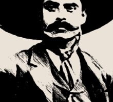 Emiliano Zapata - unichrome black Sticker