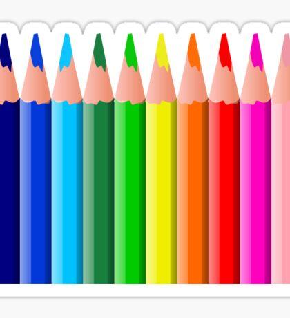 Colored pencils Sticker