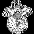 Elephant Zentangle by Michael Blais