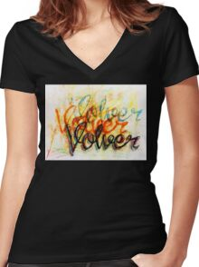 Y Volver, Volver, Volver... Women's Fitted V-Neck T-Shirt