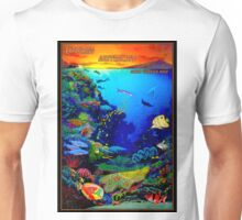 """QUEENSLAND AUSTRALIA"" Great Barrier Reef Travel Print Unisex T-Shirt"