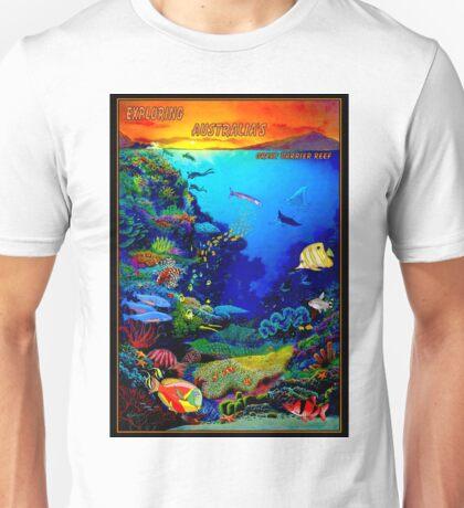 """QUEENSLAND AUSTRALIA"" Great Barrier Reef Travel Print Unisex T-Shirt"