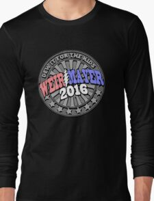 Campaign Button Vector Long Sleeve T-Shirt
