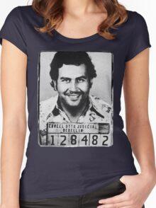 Escobar Mugshot Women's Fitted Scoop T-Shirt