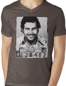 Escobar Mugshot Mens V-Neck T-Shirt