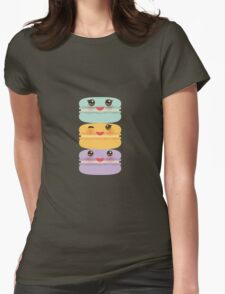 Yummy Macaroons Womens Fitted T-Shirt