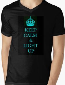 keep clam and light up Mens V-Neck T-Shirt