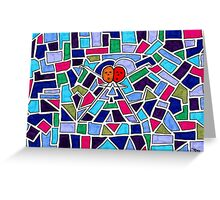 Stained Glass Dancers Greeting Card