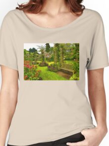 Impressions of London - Queen Mary's Rose Garden Women's Relaxed Fit T-Shirt