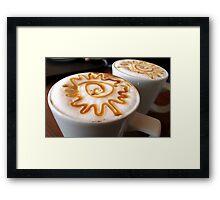 Caramel Latte Framed Print