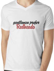 Gentlemen prefer redheads Mens V-Neck T-Shirt