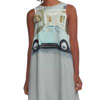 Vintage Car A-Line Dress