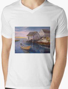 Peggys Cove Sunset Mens V-Neck T-Shirt