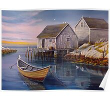 Peggys Cove Sunset Poster