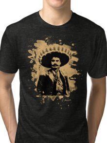 Emiliano Zapata - bleached natural Tri-blend T-Shirt