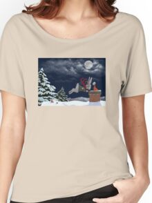White Rabbit Christmas Women's Relaxed Fit T-Shirt
