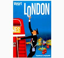 """VISIT LONDON"" Vintage Travel Advertising Print Unisex T-Shirt"
