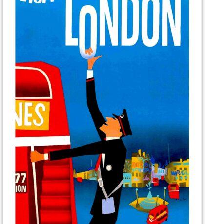 """VISIT LONDON"" Vintage Travel Advertising Print Sticker"