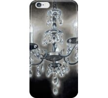 Crystal Chandelier Black and White iPhone Case/Skin