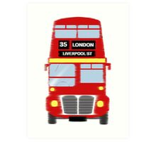 London Liverpool Street Bus Art Print