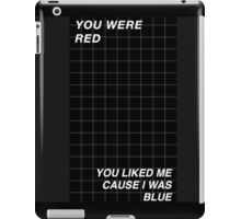 Black and White Halsey Grid iPad Case/Skin