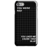 Black and White Halsey Grid iPhone Case/Skin
