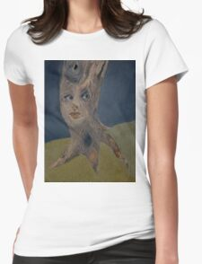 Tree Woman The Face of Nature Womens Fitted T-Shirt