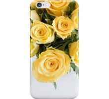 Yellow roses from above iPhone Case/Skin