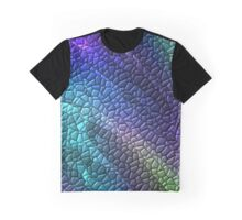 Colorful Dragon Skin Mosaic Tiles Graphic T-Shirt