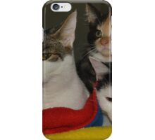 Three meows in a row iPhone Case/Skin