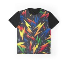 Colorful Lightning Bolts Pattern Graphic T-Shirt