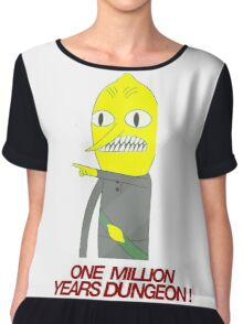 Lemongrab - One million years dungeon Chiffon Top