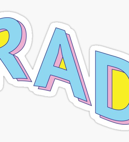 Rad, Man Sticker