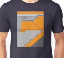 Modernist Orange Staircase Unisex T-Shirt