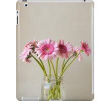 Pink gerberas in glass jar iPad Case/Skin