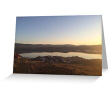 Vantage Sunset  Greeting Card