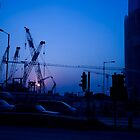 Hong Kong Blue Sunset by MichaelKe